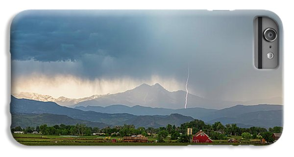 IPhone 7 Plus Case featuring the photograph Colorado Rocky Mountain Red Barn Country Storm by James BO Insogna