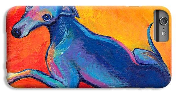 Colorful Greyhound Whippet Dog Painting IPhone 7 Plus Case by Svetlana Novikova