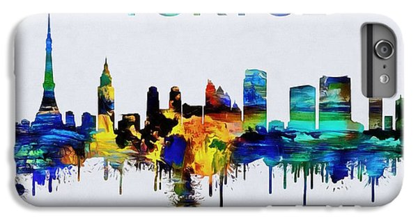 Colorful Tokyo Skyline Silhouette IPhone 7 Plus Case by Dan Sproul