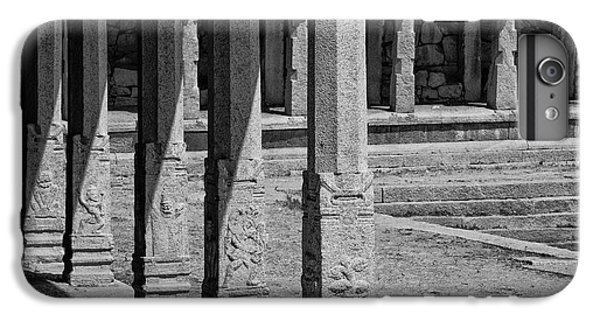 IPhone 7 Plus Case featuring the photograph Composition Of Pillars, Hampi, 2017 by Hitendra SINKAR