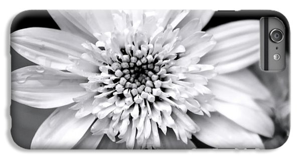 IPhone 7 Plus Case featuring the photograph Coreopsis Flower Black And White by Christina Rollo