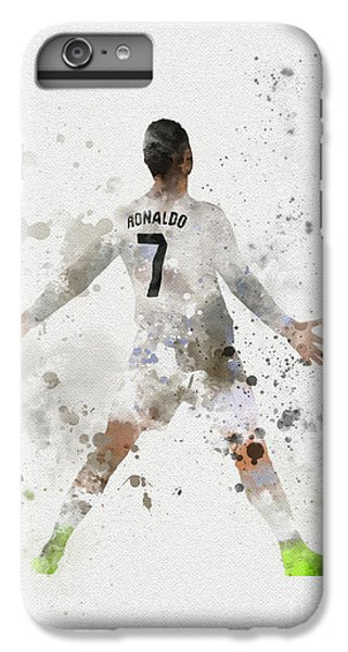 Cristiano Ronaldo IPhone 7 Plus Case by Rebecca Jenkins