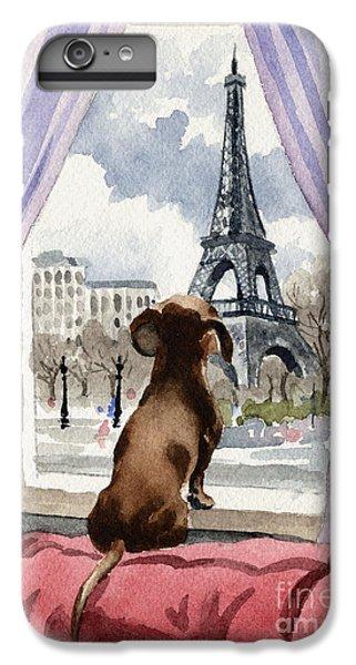 Paris iPhone 7 Plus Case - Dachshund In Paris by David Rogers