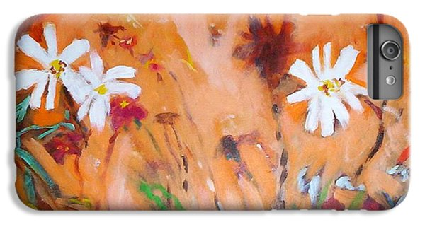 IPhone 7 Plus Case featuring the painting Daisies Along The Fence by Winsome Gunning