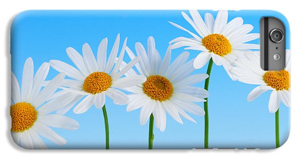 Daisy Flowers On Blue IPhone 7 Plus Case by Elena Elisseeva