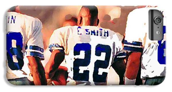 Dallas iPhone 7 Plus Case - Dallas Cowboys Triplets by Paul Van Scott