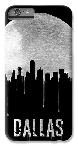 Moon iPhone 7 Plus Case - Dallas Skyline Black by Naxart Studio