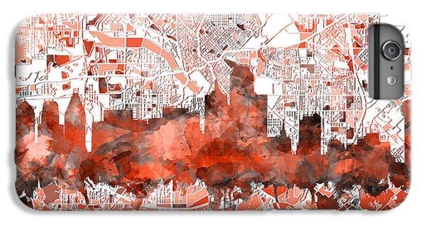 Dallas Skyline Map Red IPhone 7 Plus Case