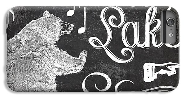 Lake iPhone 7 Plus Case - Dancing Bear Lake Rustic Cabin Sign by Mindy Sommers