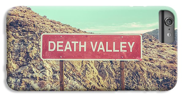 Mountain iPhone 7 Plus Case - Death Valley Sign by Mr Doomits
