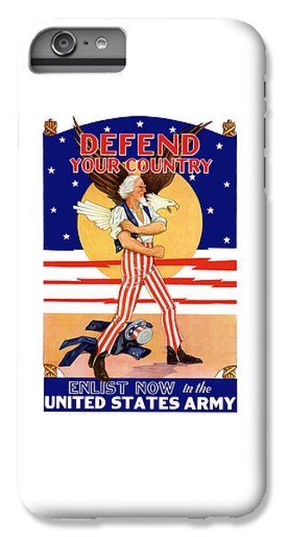 Eagle iPhone 7 Plus Case - Defend Your Country Enlist Now  by War Is Hell Store