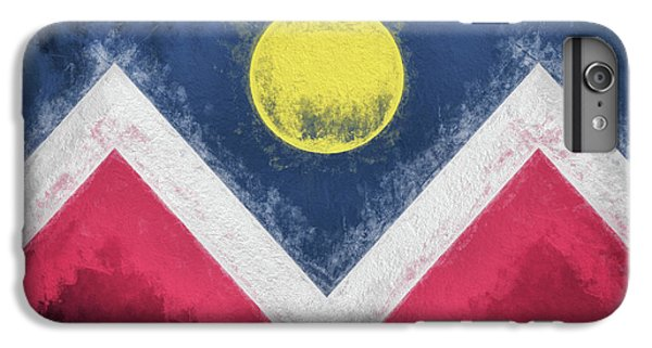 IPhone 7 Plus Case featuring the digital art Denver Colorado City Flag by JC Findley
