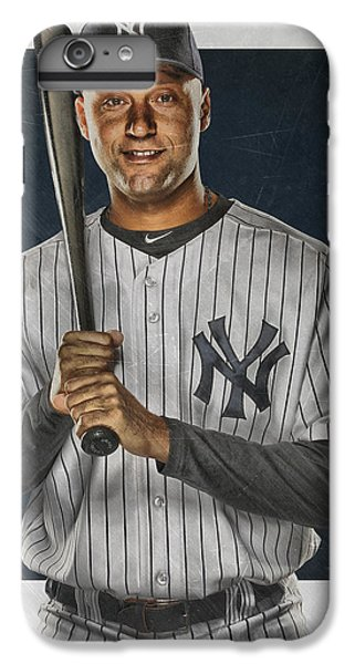 Derek Jeter iPhone 7 Plus Case - Derek Jeter New York Yankees Art by Joe Hamilton