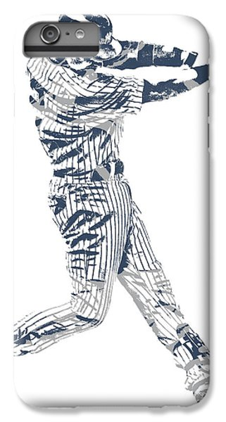 Derek Jeter iPhone 7 Plus Case - Derek Jeter New York Yankees Pixel Art 10 by Joe Hamilton