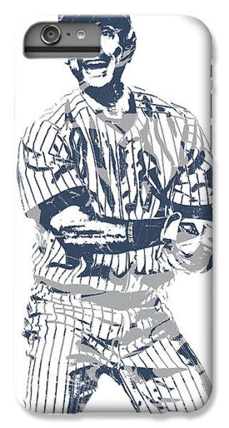 Derek Jeter iPhone 7 Plus Case - Derek Jeter New York Yankees Pixel Art 13 by Joe Hamilton