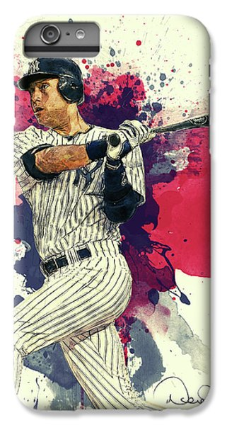 Derek Jeter iPhone 7 Plus Case - Derek Jeter by Taylan Apukovska