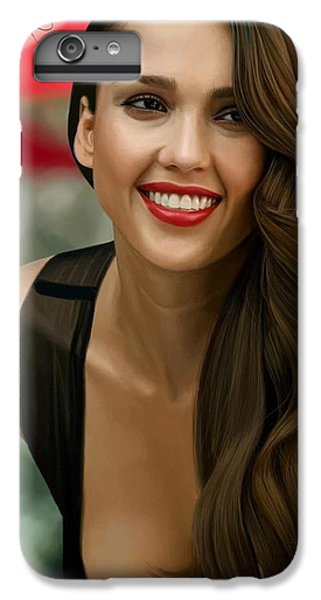 Jessica Alba iPhone 7 Plus Case - Digital Painting Of Jessica Alba by Frohlich Regian