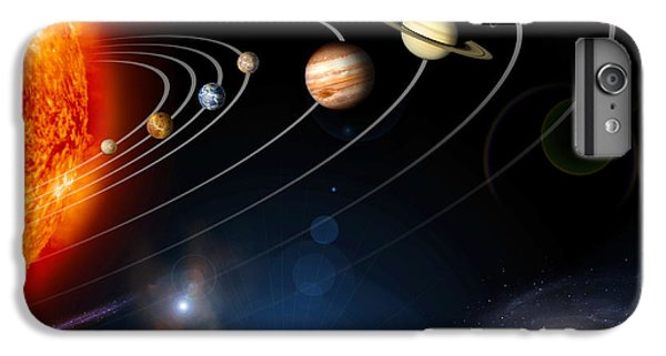Space iPhone 7 Plus Case - Digitally Generated Image Of Our Solar by Stocktrek Images