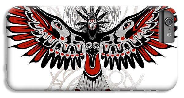 Crow iPhone 7 Plus Case - Divine Crow Woman by Sassan Filsoof