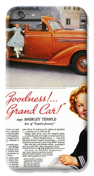 Dodge Automobile Ad, 1936 IPhone 7 Plus Case by Granger