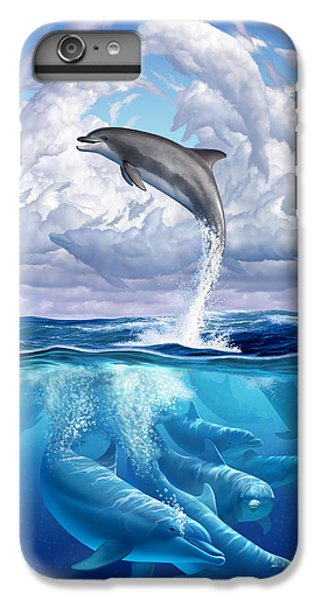 Contemporary iPhone 7 Plus Case - Dolphonic Symphony by Jerry LoFaro