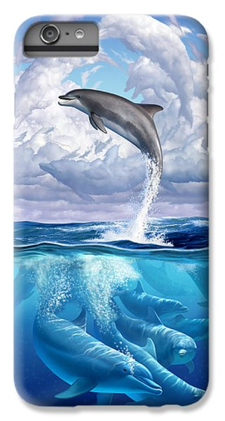 Blue iPhone 7 Plus Case - Dolphonic Symphony by Jerry LoFaro