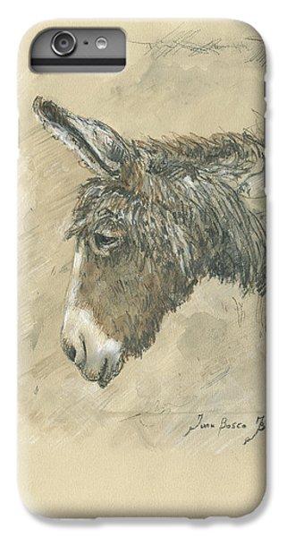 Donkey iPhone 7 Plus Case - Donkey Portrait by Juan Bosco