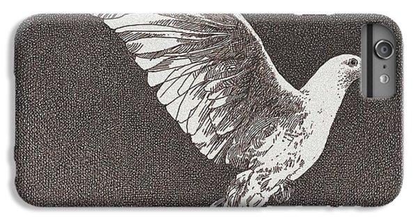 Dove Drawing IPhone 7 Plus Case by William Beauchamp
