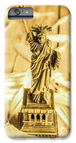 Statue Of Liberty iPhone 7 Plus Case - Dove Feathers And American Landmarks by Jorgo Photography - Wall Art Gallery