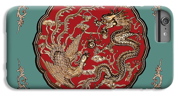 Dragon iPhone 7 Plus Case - Dragon And Phoenix by Kristin Elmquist