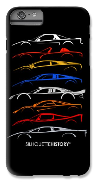 Viper iPhone 7 Plus Case - Dreamcars Of 90s Silhouettehistory by Gabor Vida