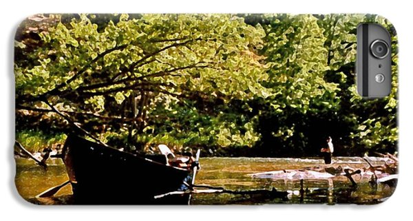 Shrimp Boats iPhone 7 Plus Case - Driftboating by Michael Thomas
