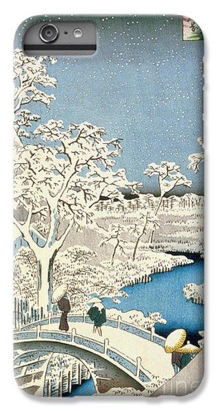 Drum iPhone 7 Plus Case - Drum Bridge And Setting Sun Hill At Meguro by Hiroshige