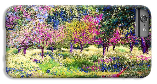 England iPhone 7 Plus Case - Echoes From Heaven, Spring Orchard Blossom And Pheasant by Jane Small