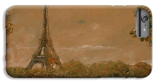Eiffel Tower iPhone 7 Plus Case - Eiffel Tower Paris Watercolor by Juan  Bosco