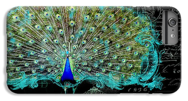 Elegant Peacock W Vintage Scrolls 3 IPhone 7 Plus Case by Audrey Jeanne Roberts