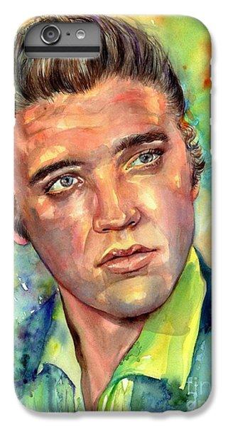 Elvis Presley iPhone 7 Plus Case - Elvis Presley Watercolor by Suzann's Art