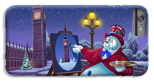 English Snowman IPhone 7 Plus Case by Michael Humphries