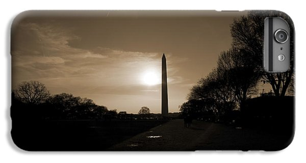 Evening Washington Monument Silhouette IPhone 7 Plus Case by Betsy Knapp