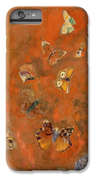 Insects iPhone 7 Plus Case - Evocation Of Butterflies by Odilon Redon