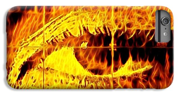 iPhone 7 Plus Case - Face The Fire by Gina Callaghan