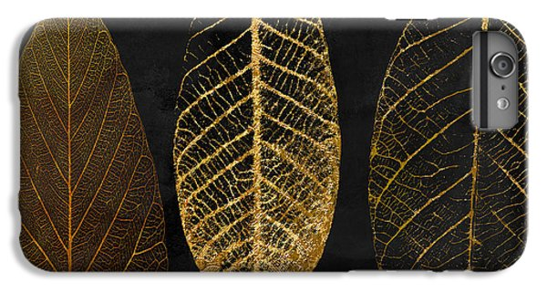 Pattern iPhone 7 Plus Case - Fallen Gold II Autumn Leaves by Mindy Sommers