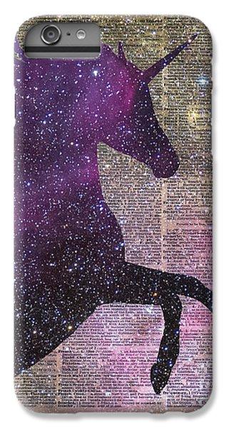 Unicorn iPhone 7 Plus Case - Fantasy Unicorn In The Space by Anna Wilkon