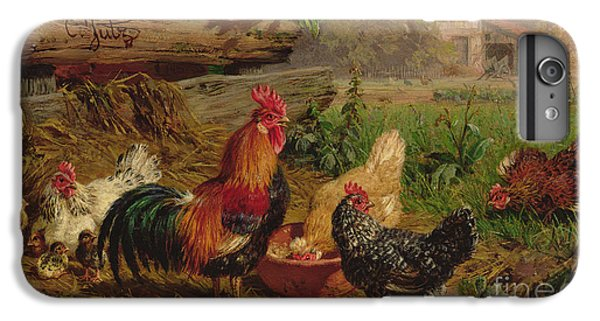 Farmyard Chickens IPhone 7 Plus Case by Carl Jutz