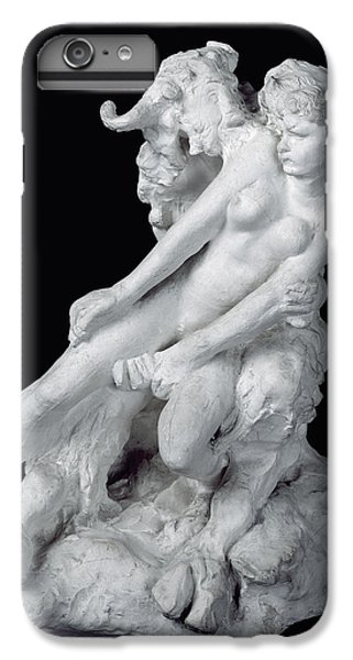 Minotaur iPhone 7 Plus Case - Faun And Nymph by Auguste Rodin