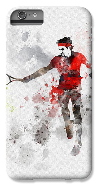 Federer IPhone 7 Plus Case by Rebecca Jenkins