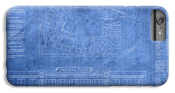Fenway Park Blueprints Home Of Baseball Team Boston Red Sox On Worn Parchment IPhone 7 Plus Case by Design Turnpike