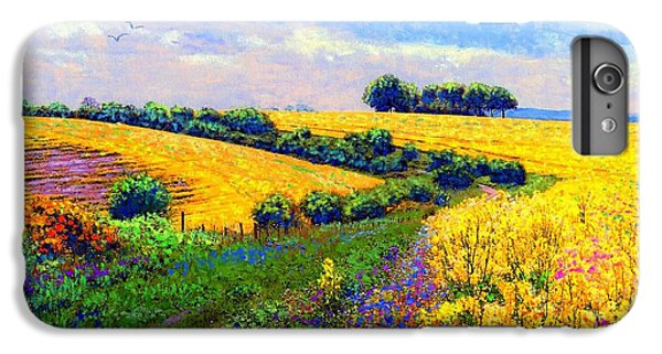 England iPhone 7 Plus Case - Fields Of Gold by Jane Small