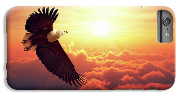 Eagle iPhone 7 Plus Case - Fish Eagle Flying Above Clouds by Johan Swanepoel