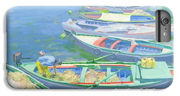 Boats iPhone 7 Plus Case - Fishing Boats by William Ireland